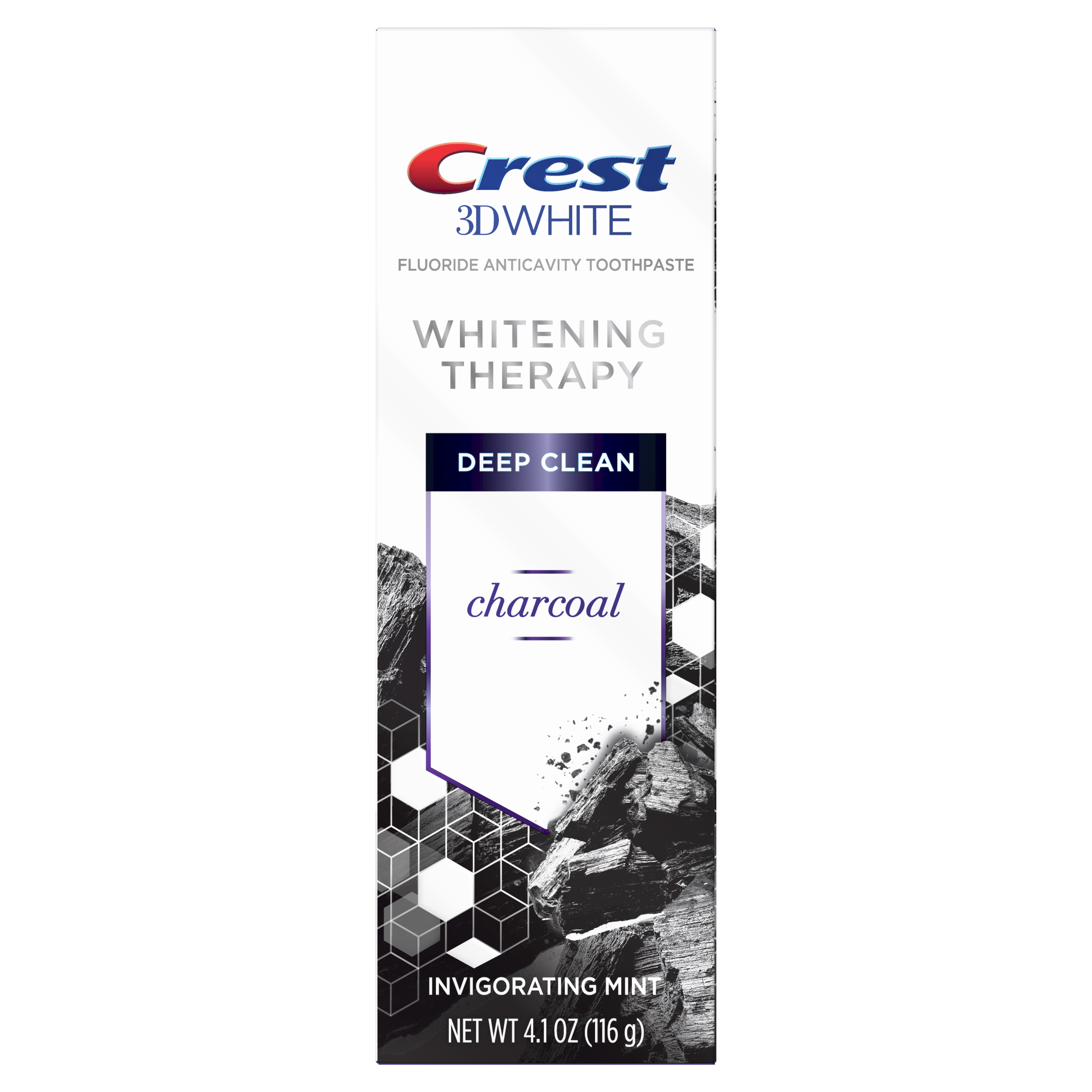 Crest 3D White Whitening Therapy Deep Clean Charcoal. (Suministrada)