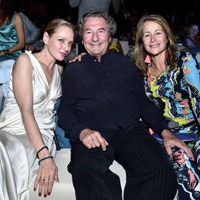 Uma Thurman junto a Federico y Carolina Stubbe