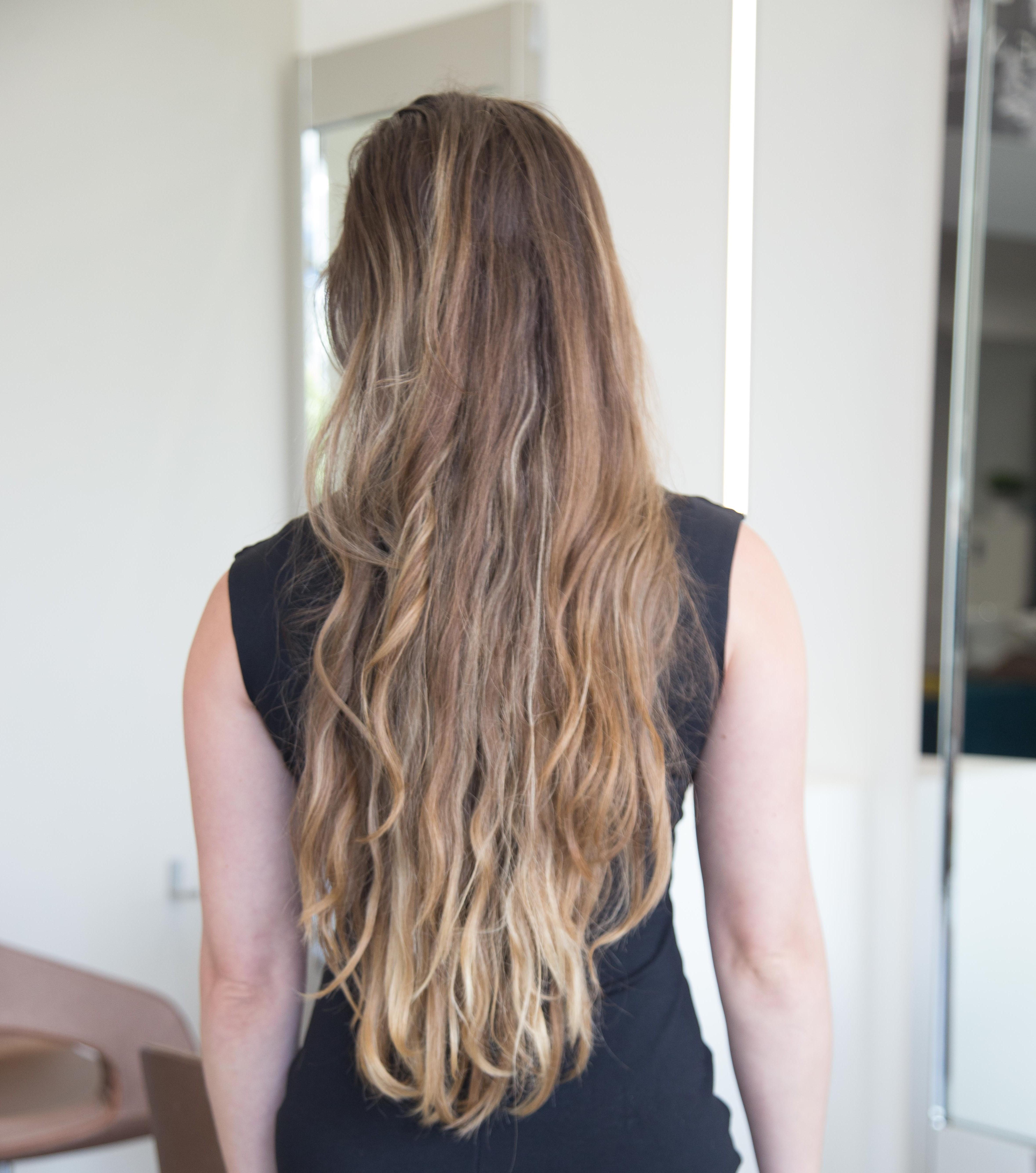Así  lucía la cabellera antes del tratamiento en el salon de belleza.