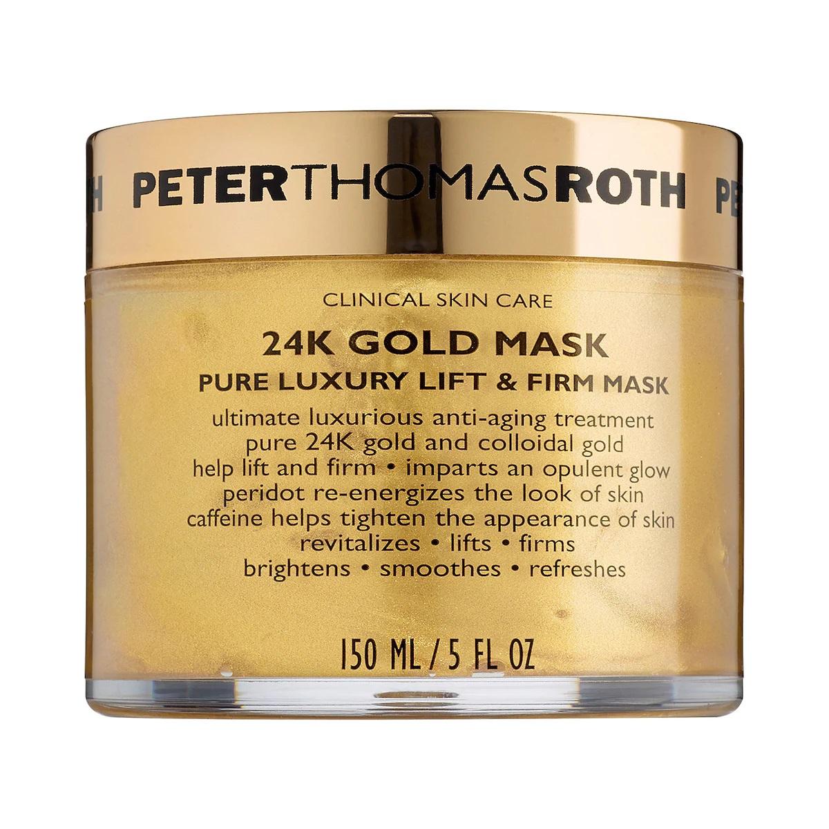 Aprovecha los beneficios que le ofrecen a tu piel esta mascarilla de oro de 24 kilates de la marca Peter Thomas Roth. Disponible en Sephora. (Suministrada)