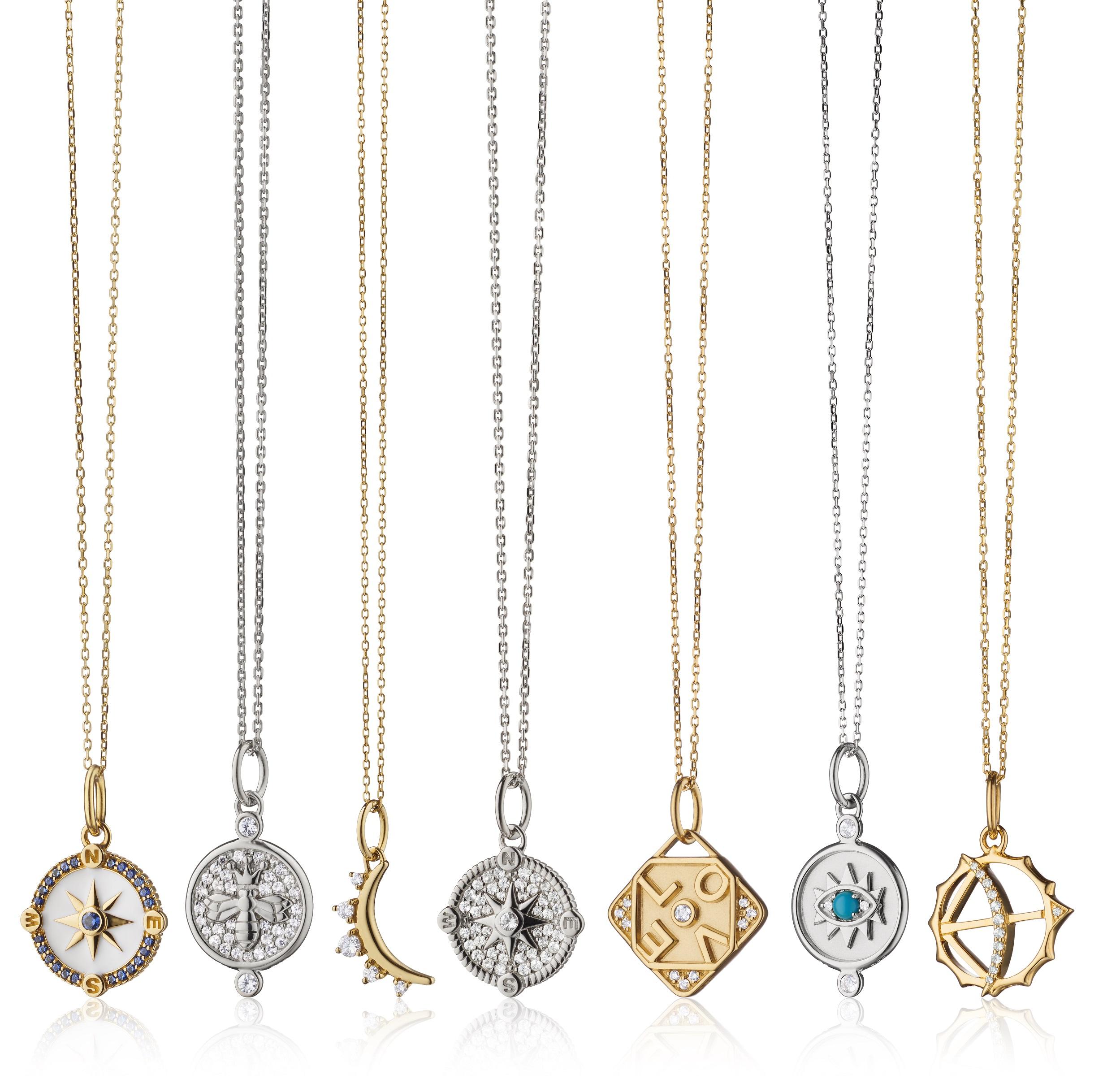 Cerca del corazón - Hay piezas de joyería para usar a diario que se ajustan a tu estado anímico, como estas cadenas con diversos pendientes de Monica Rich Kosann que puedes conseguir tanto en Reinhold Jewelers como en www.reinholdjewelers.com (Suministrada)