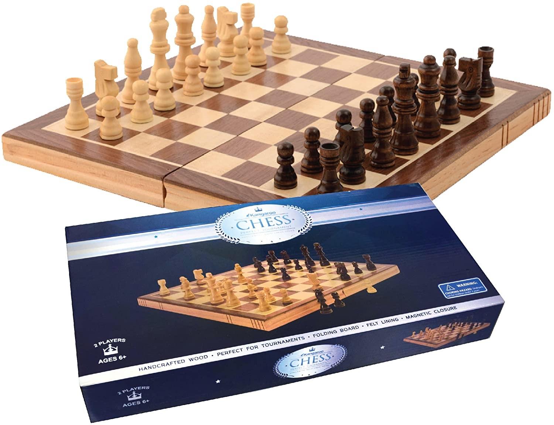 """Juego para toda la familia - Si la serie """"The Queen's Gambit"""" los dejó deseosos de conocer más sobre el ajedrez o simplemente avivó el deseo de volver a jugar, este tablero de Amazon.com puede ser una excelente opción de regalo. (Suministrada)"""