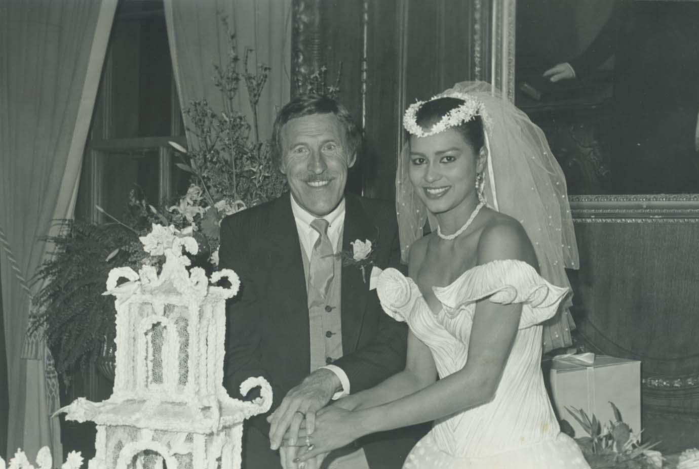 La pareja se casó en Nueva York el 15 de enero del 1983 tras conocerse en el concurso de Miss Mundo en 1980, ambos como jurados (Archivo)