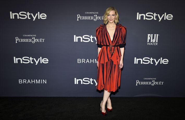 Cate Blanchett, ganadora del Style Icon Award. (AP)