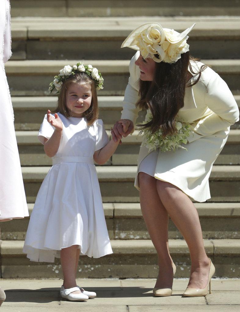 Kate estuvo siempre muy pendiente de su pequeña Charlotte. (Foto: AP)