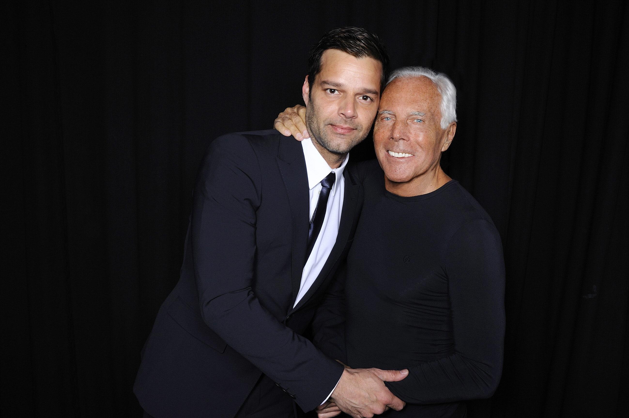 Ricky Martin y Georgio Armani han mantenido una sólida relación de trabajo y amistad. (Archivo)