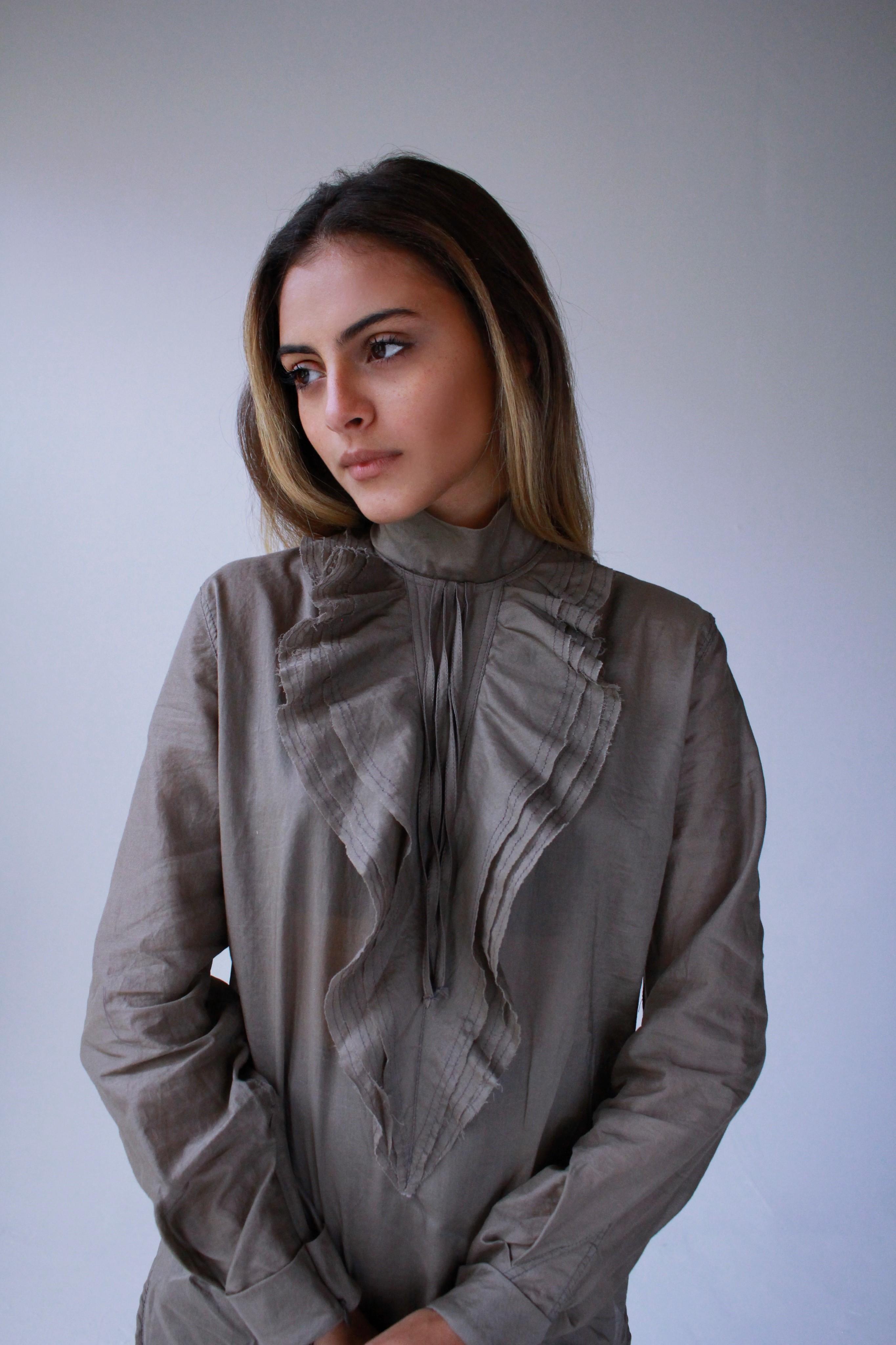Camisa de algodón con volantes (Suministrada / Foto Daliana Alvarado)