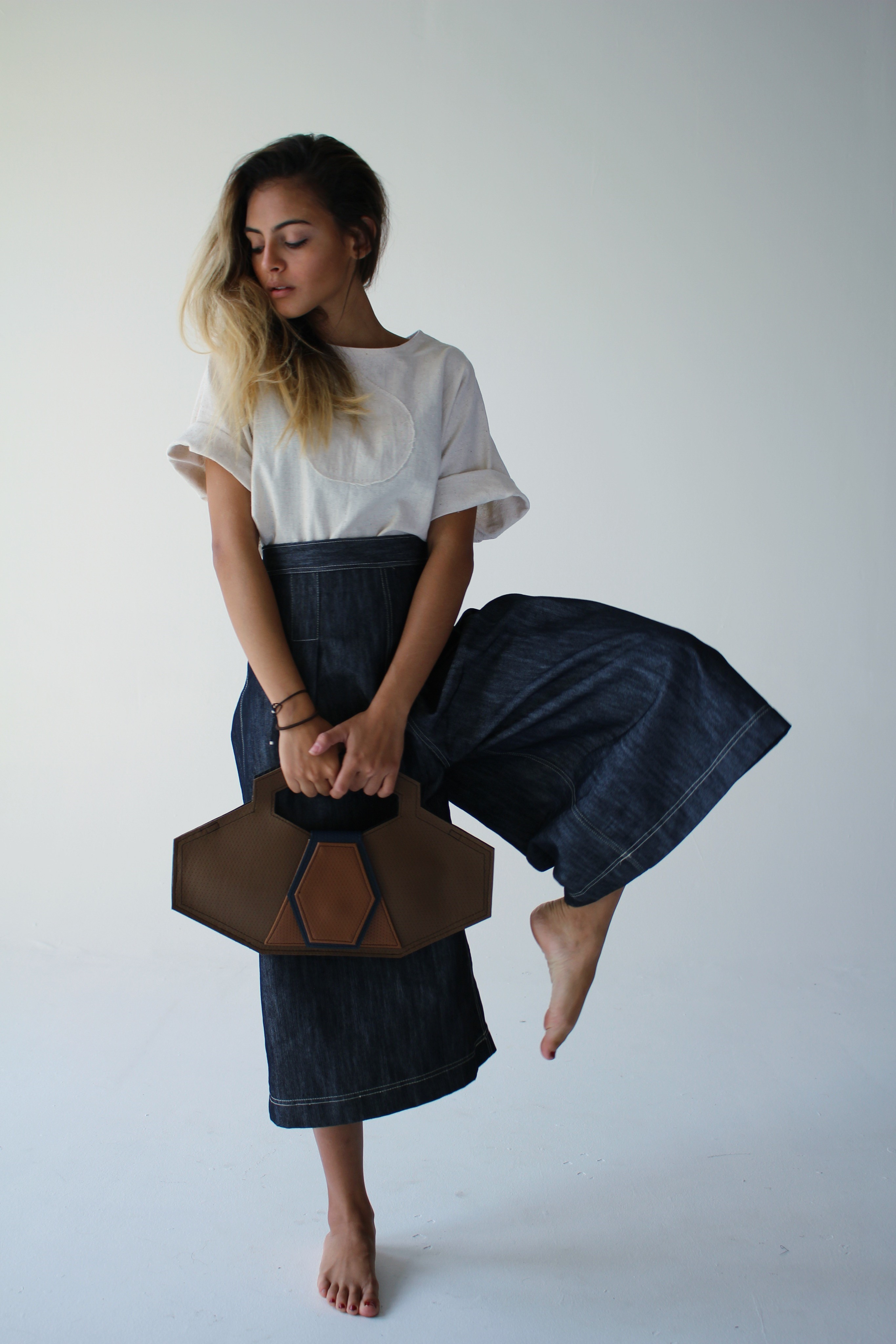 """Camisa y pantalón """"denim"""" con carte de NoTire (Suministrada / Foto Daliana Alvarado)"""