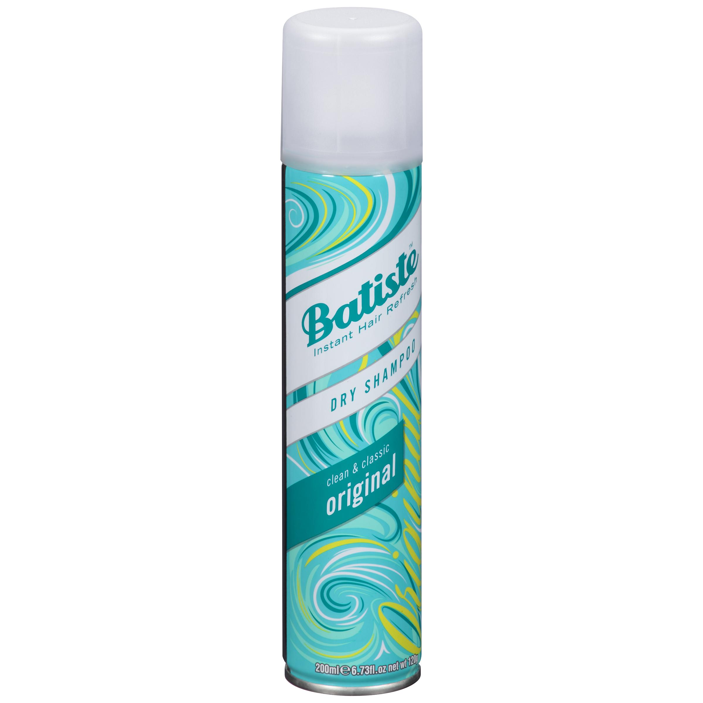 Batiste Dry Shampoo - Un producto que siempre debes tener al alcance de tu mano, porque hay ocasiones en las que necesitas aplazar un día más el lavado del cabello. Viene con diferentes aromas, pero yo prefiero el Original Scent. (Foto: Suministrada)