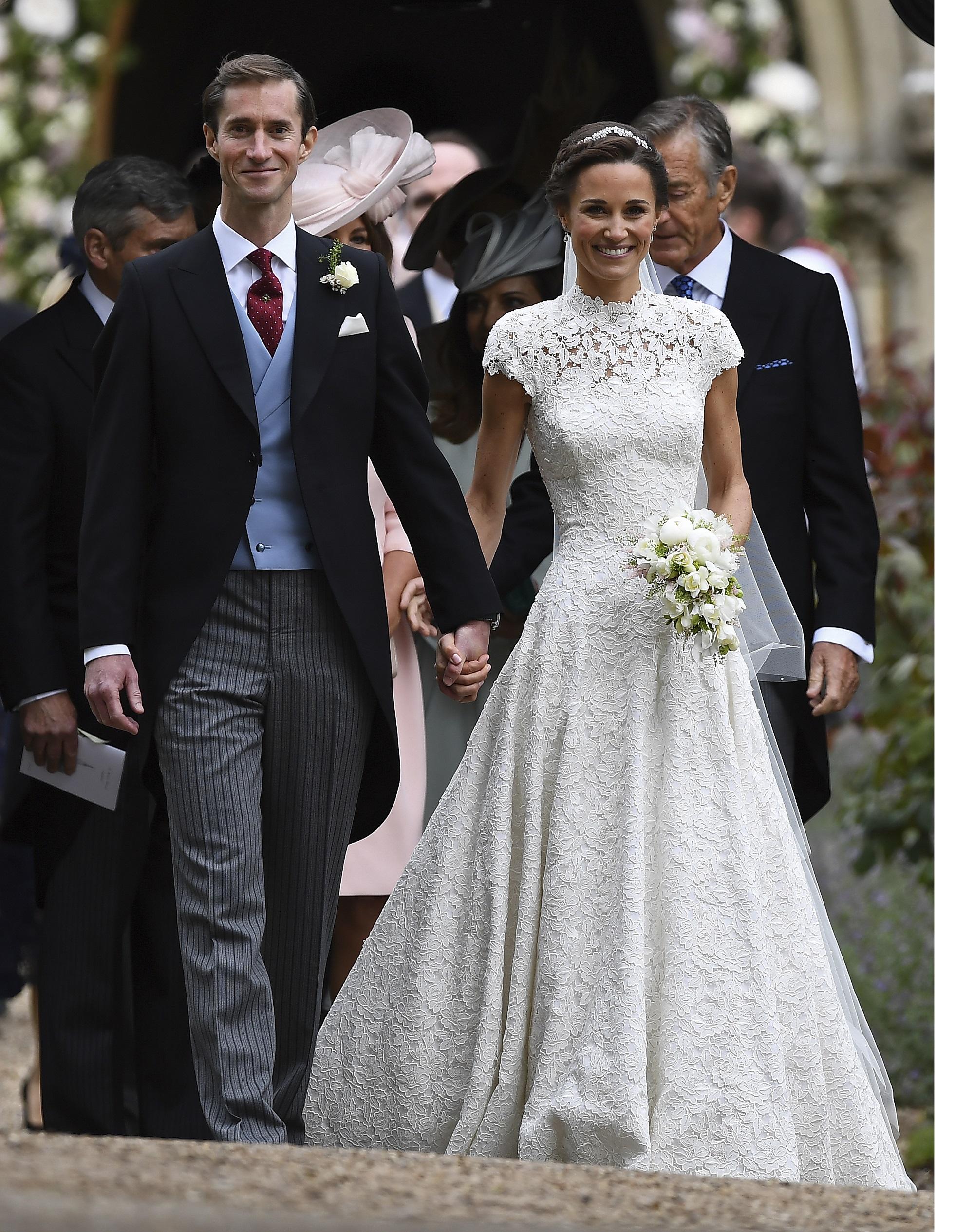 La hermana de Kate Middleton se comprometió con Matthews el año pasado tras una relación estable que empezó en 2015. (Justin Tallis/Pool Photo via AP)