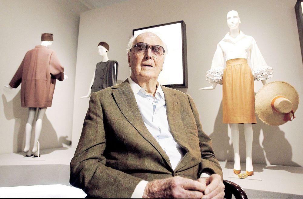 El legendario diseñador de modas francés Hubert Givenchy.