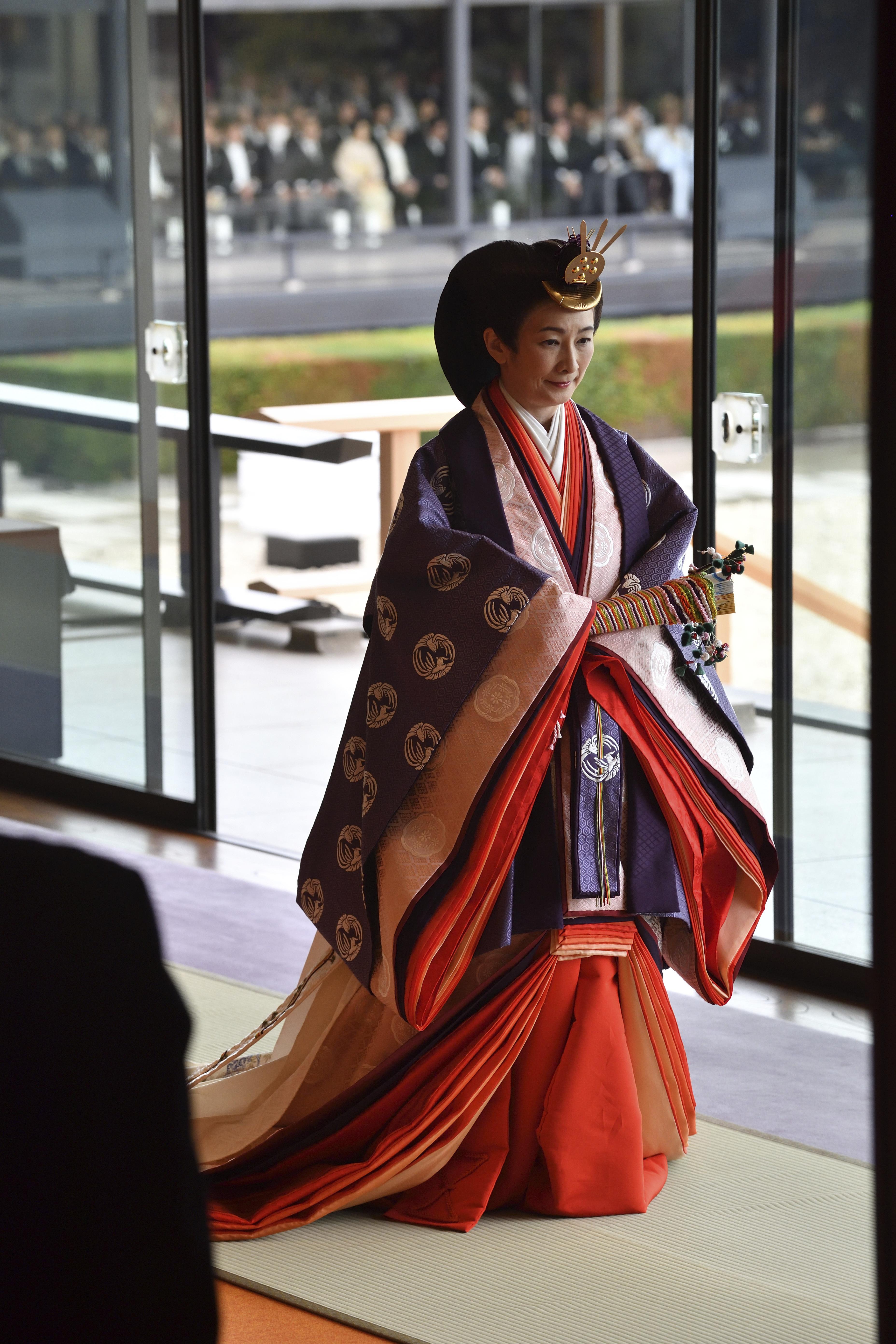 La princesa Kiko participó en la ceremonia de entronización de su padre. (AP)