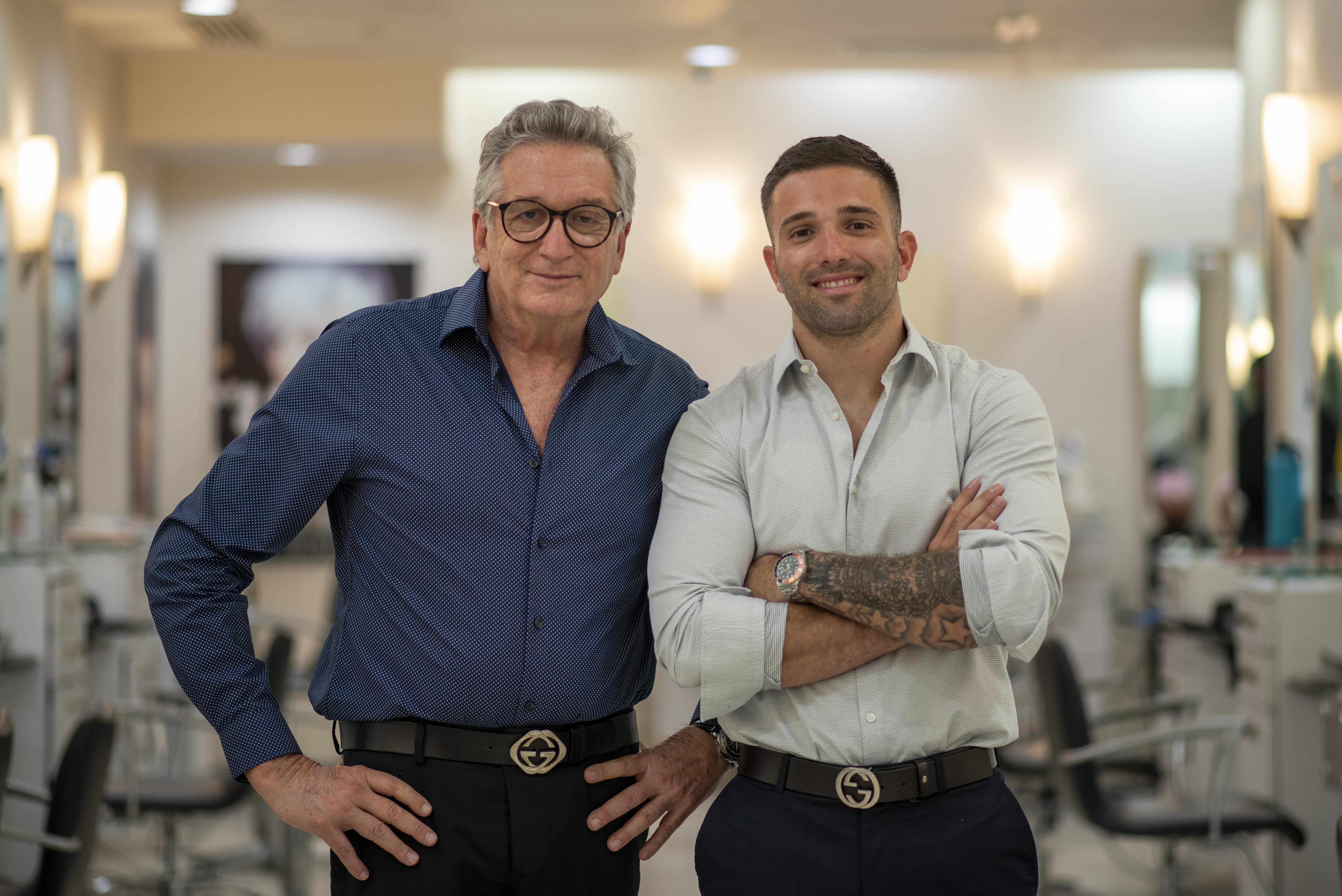 Amado y Marcelo Amado Navarro. (Foto: Neidy Rosado)