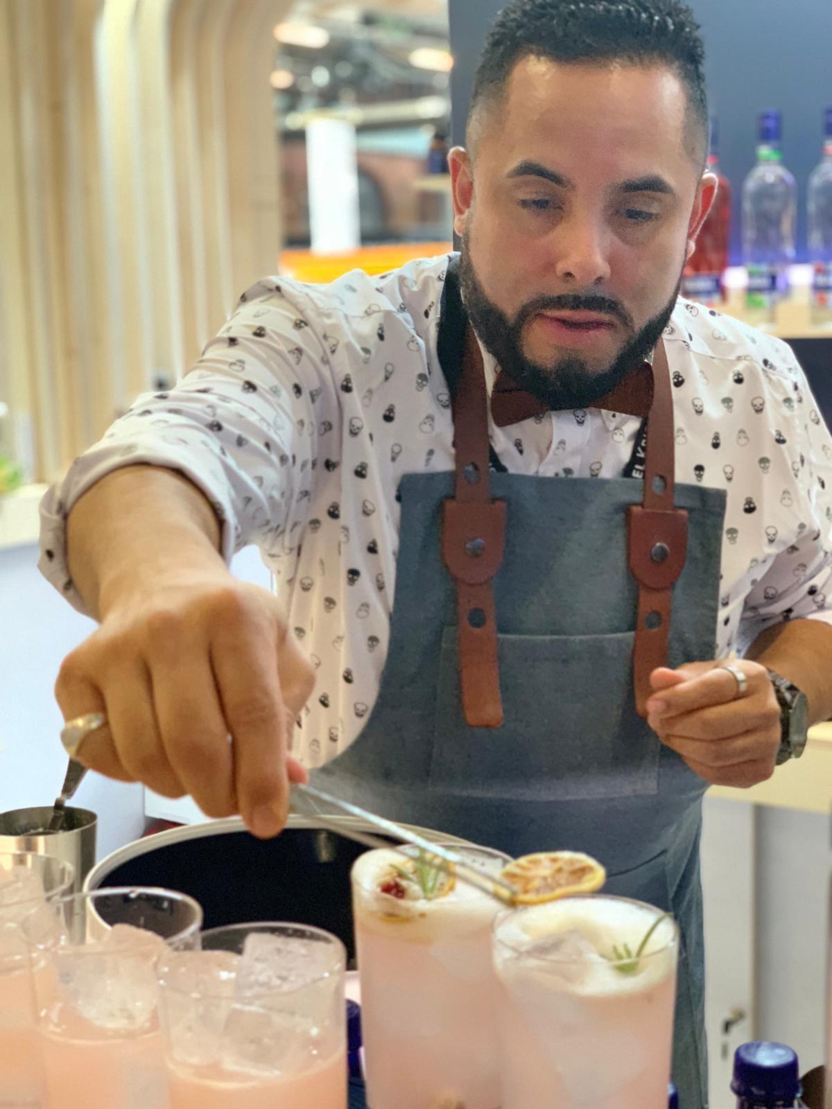 Ariel Rosario durante su presentación trajo el sabor del Caribe a la capital alemana.