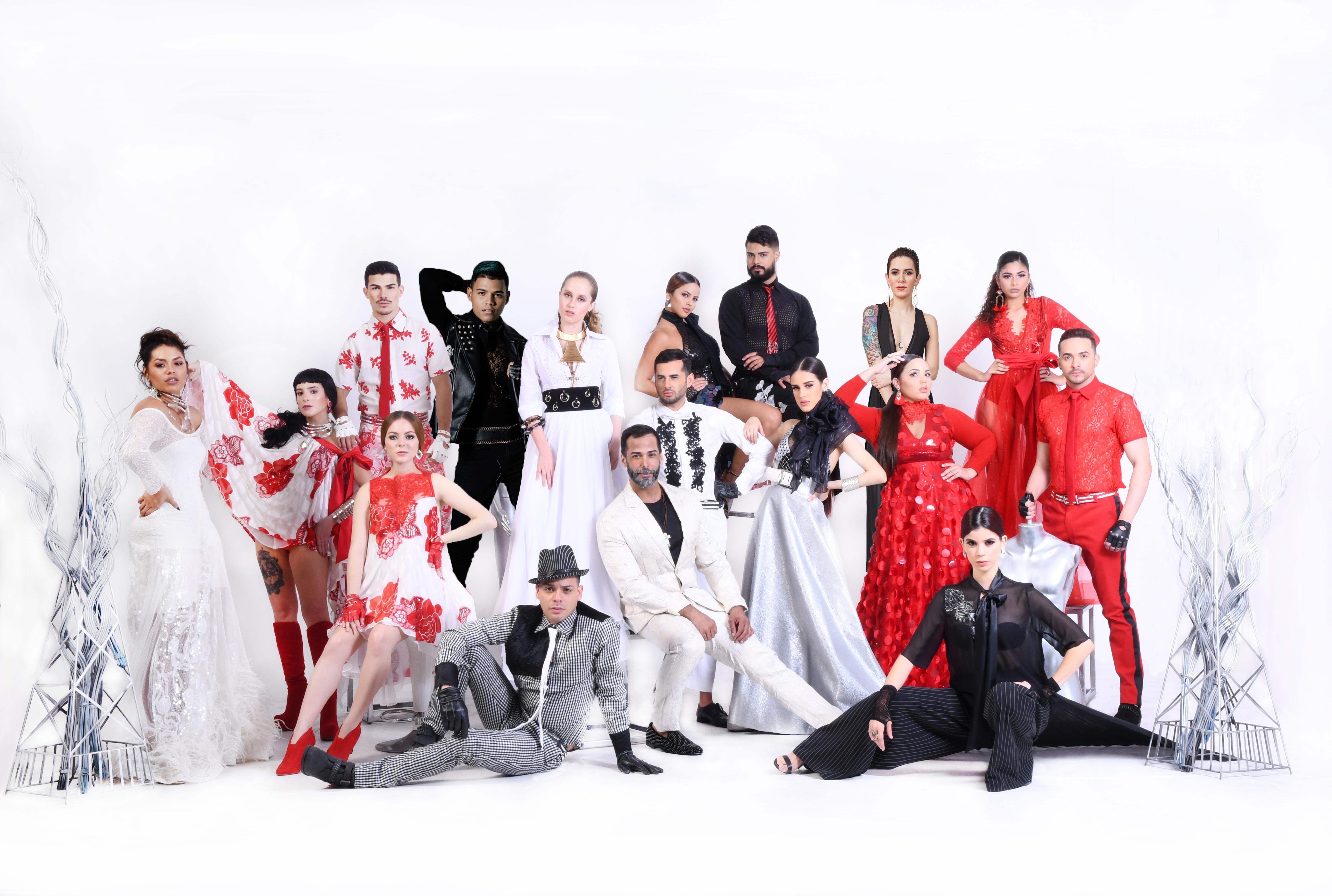 El grupo de concursantes de Tiny World Model All-Stars 2020 junto al diseñador. (Suministrada)