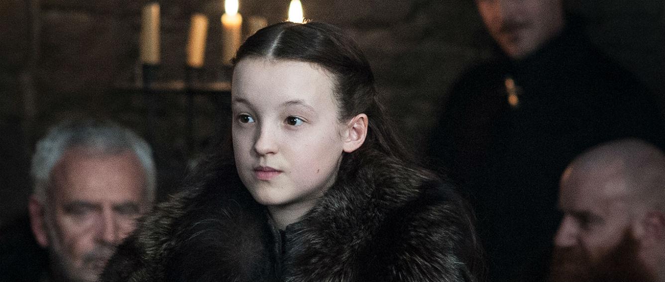 Lyanna Mormont es la líder de la casa Mormont, se ha convertido en uno de los personajes favoritos por su ferocidad y carácter firme a tan corta edad. (HBO/ Helen Sloan/S7/Ep.1)