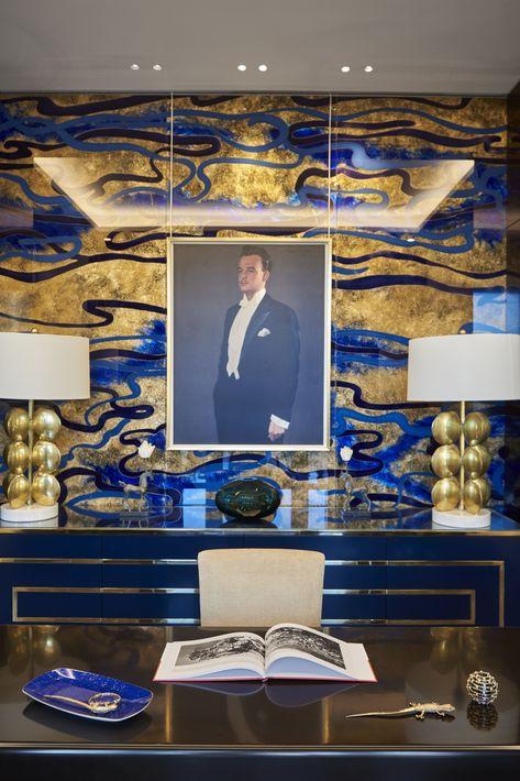 Para el diseño de la suite Príncipe Rainiero III se emplearon materiales nobles de artesanos de Francia e Italia con pinturas, fotos y esculturas del soberano. Foto suministrada.
