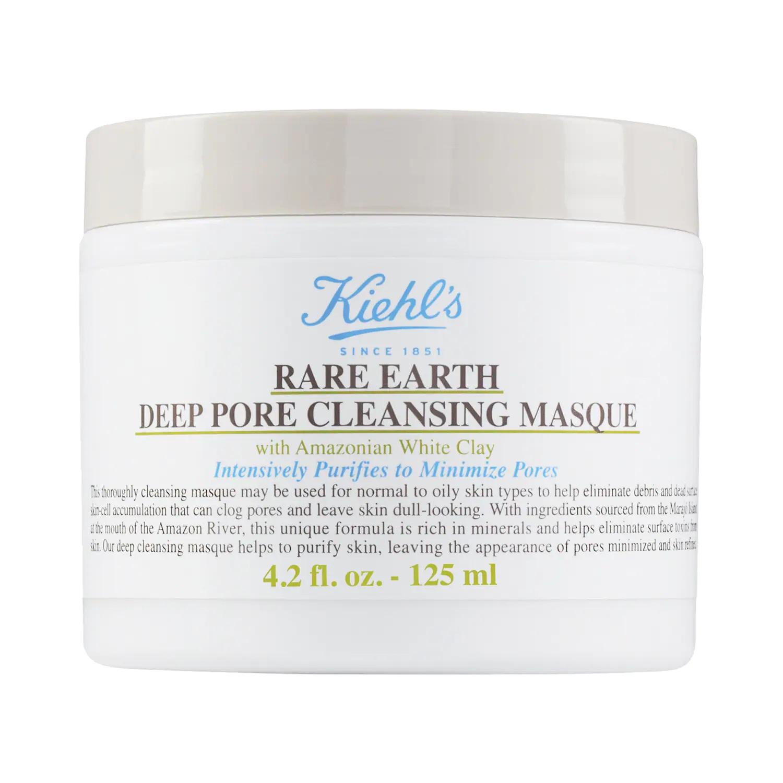 Rare Earth Deep Pore Cleansing Mask  - Kiehl's Since 1851 te ofrece esta mascarilla que promete limpiar los poros a profundizar y minimizar su tamaño, un problema muy habitual, sobre todo en quienes tienen el cutis grasoso o mixto. (Suministrada)