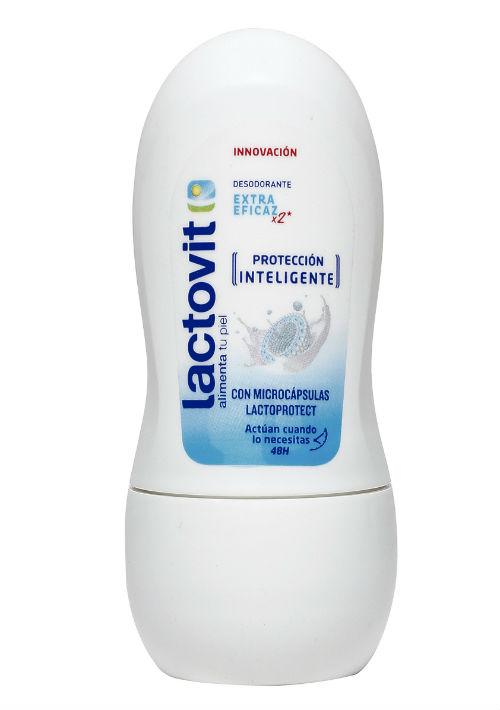 2. Desodorante- El sudor es la causa del mal olor. Por eso, debes buscar un producto que además de darte olor sea antiperspirante, cuya función es que las glándulas sudoríparas dejen de producir sudor. Desodorante Lactovit. (Suministrada)