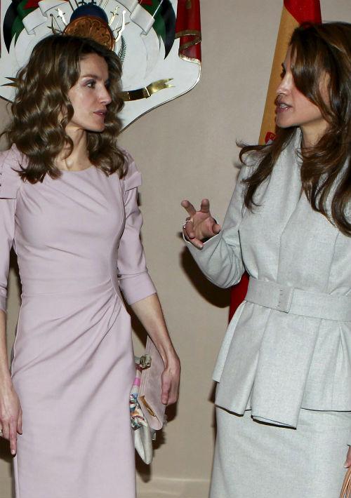 Junto a la reina Rania de Jordania en 2011.