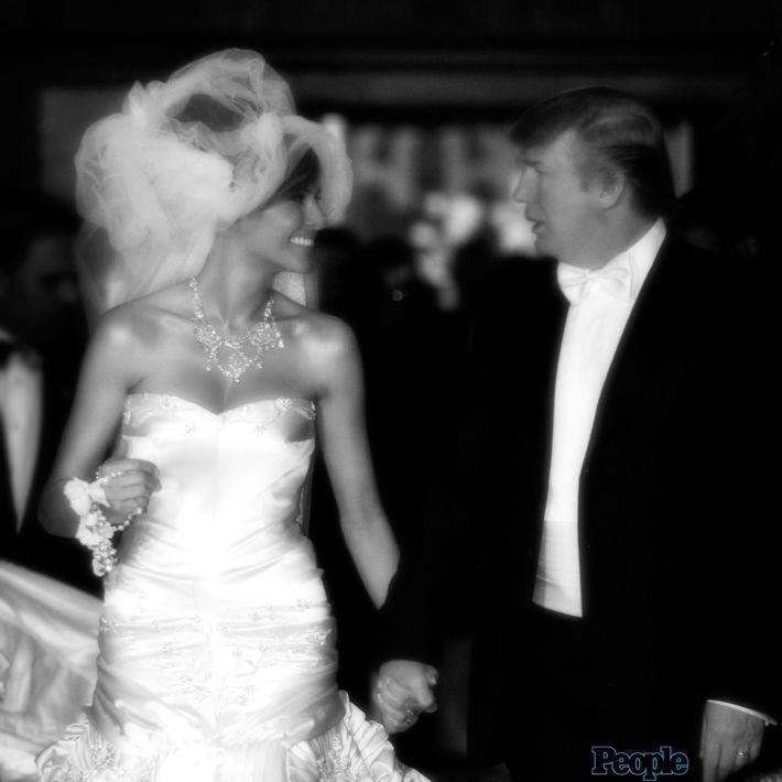 Foto de la boda de Melania con el actual presidente de Estados Unidos, celebrada en enero de 2005. (Foto: Archivo)