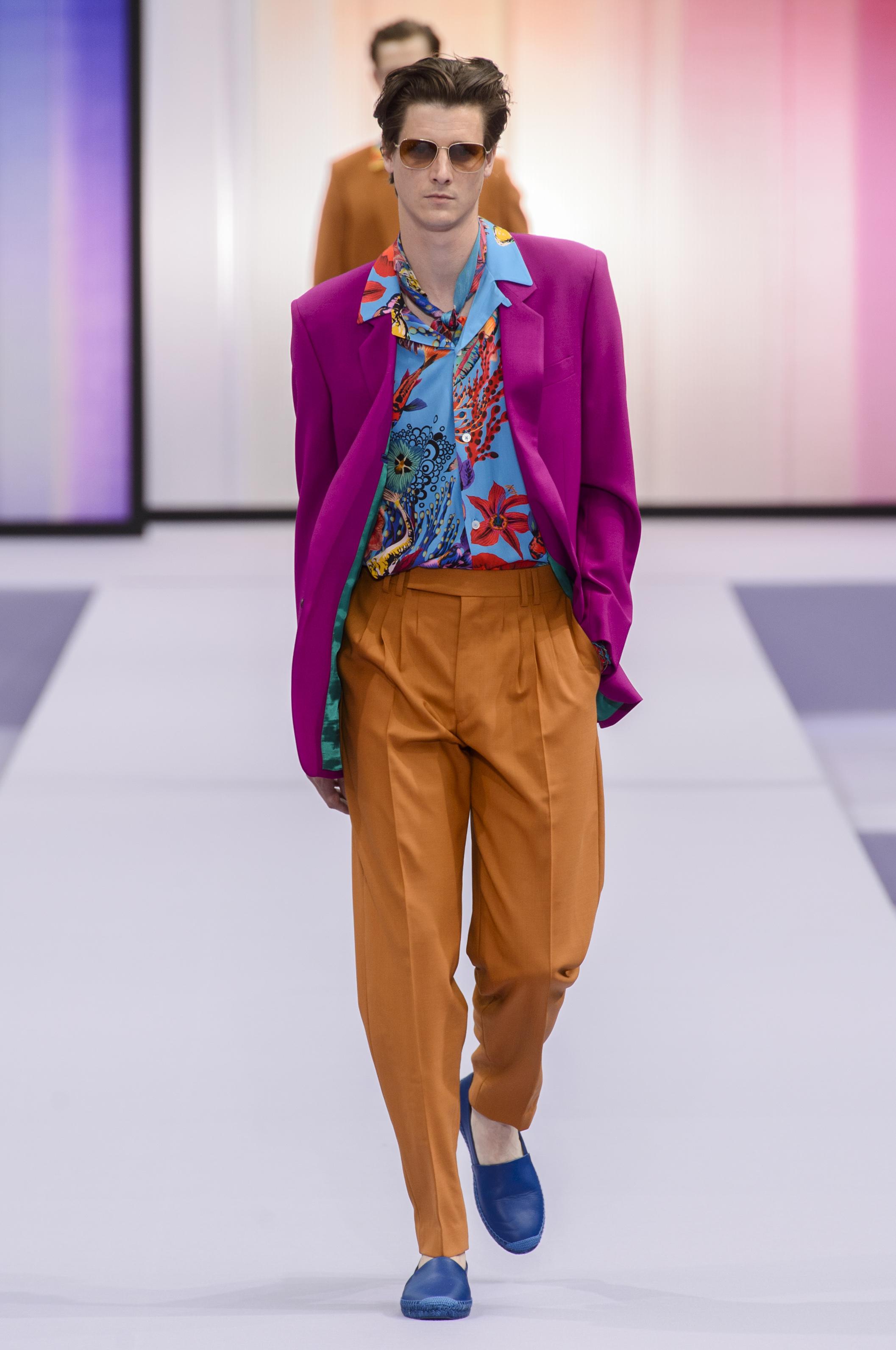 La combinación perfecta para Prince: violeta y naranja by Paul Smith. Foto WGSN.