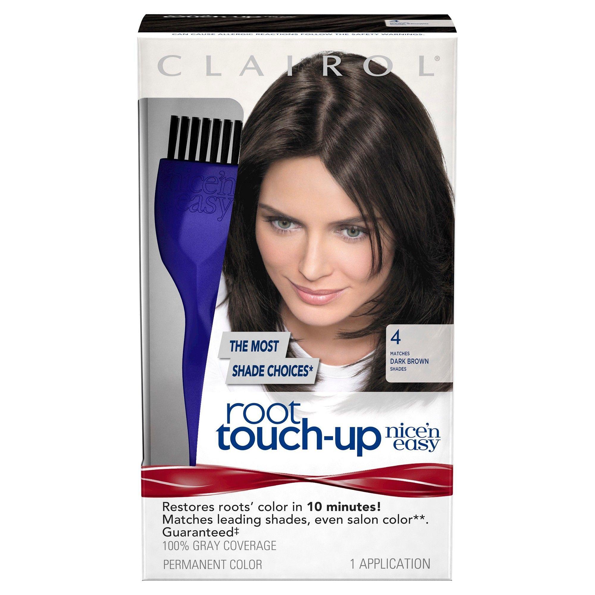 Clairol Nice 'n Easy Root Touch-Up Permanent Hair Color - Entre una visita y otra al salón, esta es mi solución para tapar una que otra cana que aparece. Lo que me gusta es que es fácil de usar, no hago regueros y hace efecto en 10 minutos. (Foto: Suministrada)