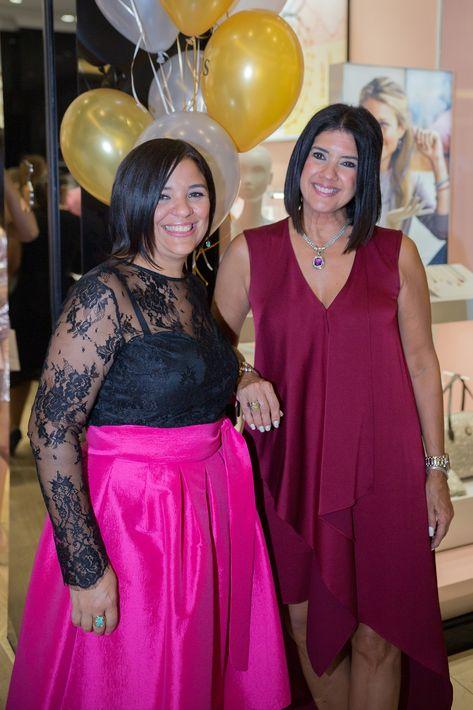 Yari Torres y Rita Rivera, en la apertura de la tienda Tous en The Mall of San Juan.
