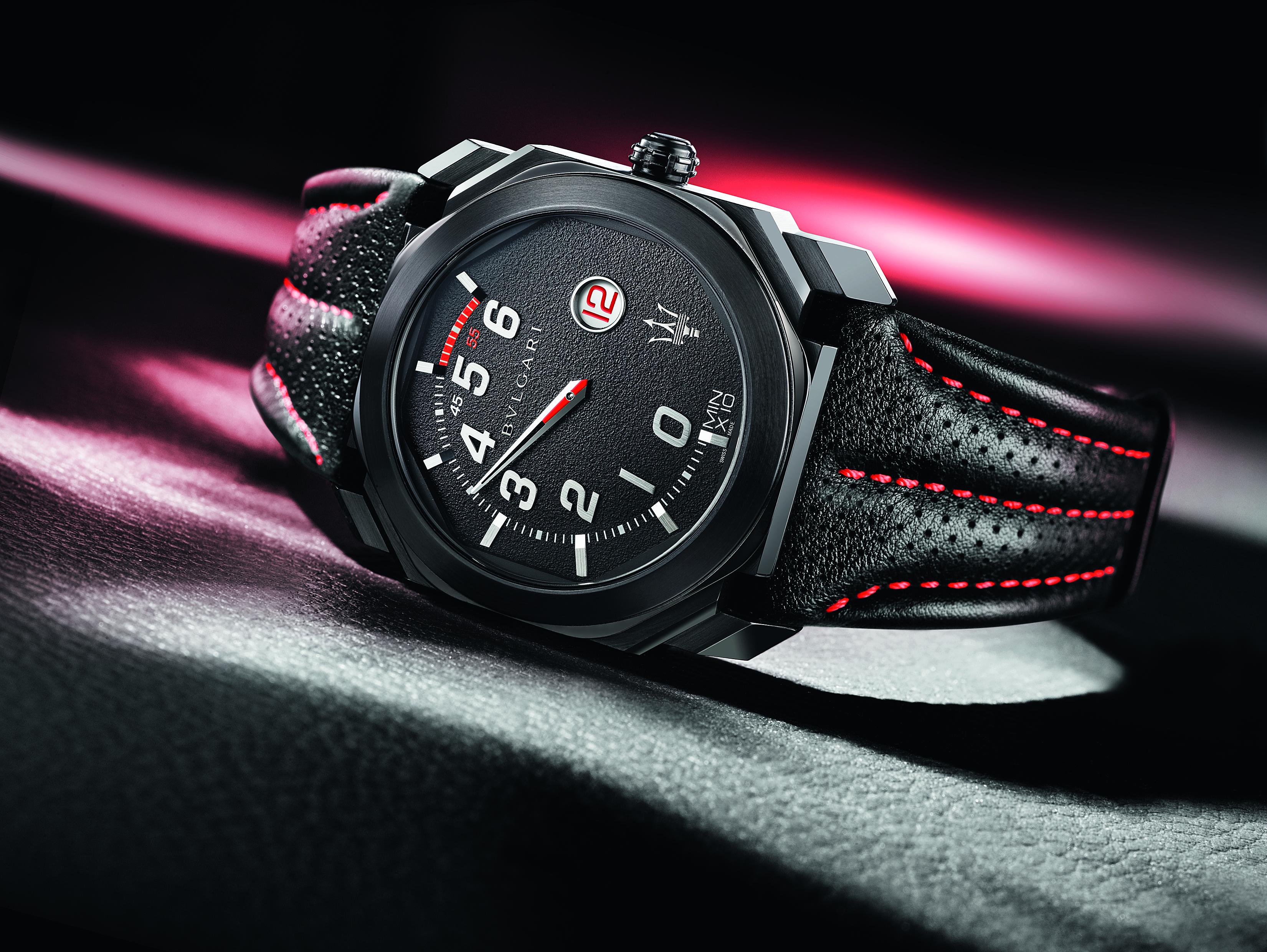 ... y Octo Maserati GranLusso  los dos nuevos relojes de Bulgari que  vuelven a lucir en su esfera el tridente 5b89bd330511