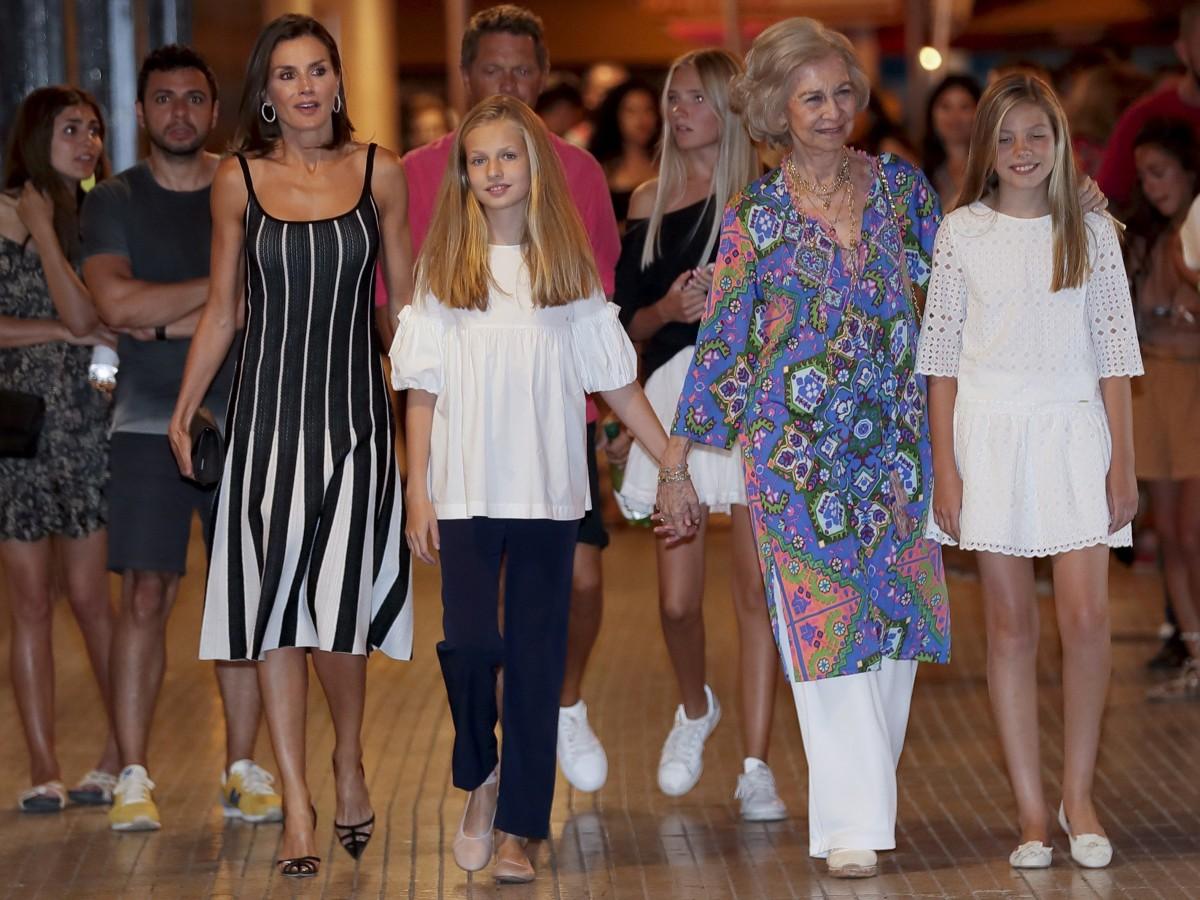 Juntas y felices la reina Letizia y su suegra