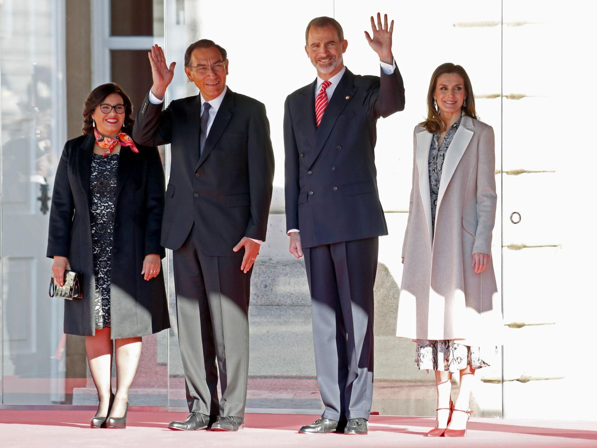 Los reyes de España reciben al presidente peruano en el Palacio Real