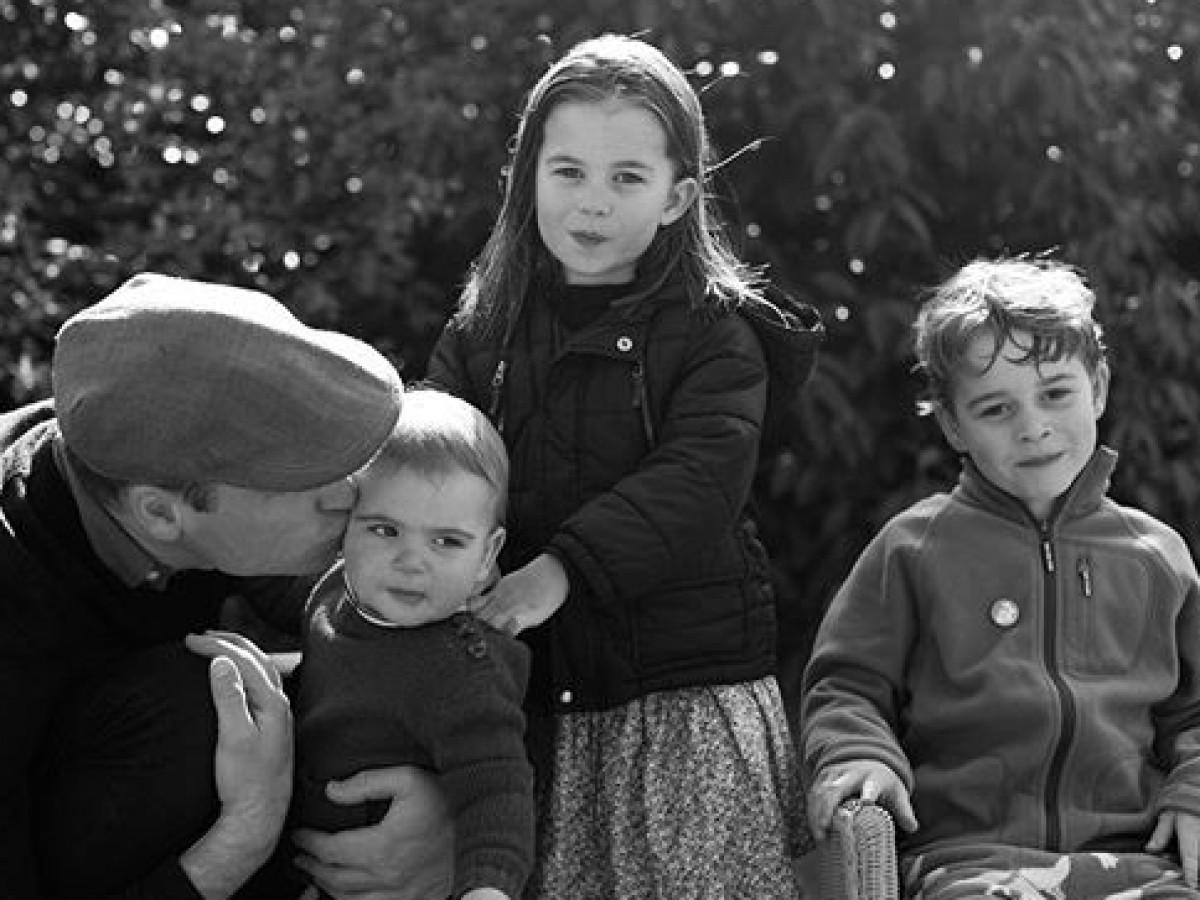 La adorable foto del príncipe Guillermo y sus hijos