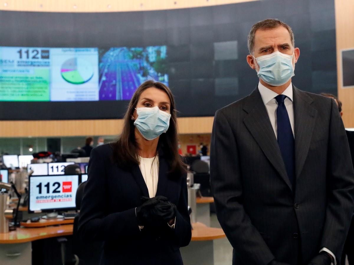 Los reyes de España realizan su primera actividad pública durante la pandemia