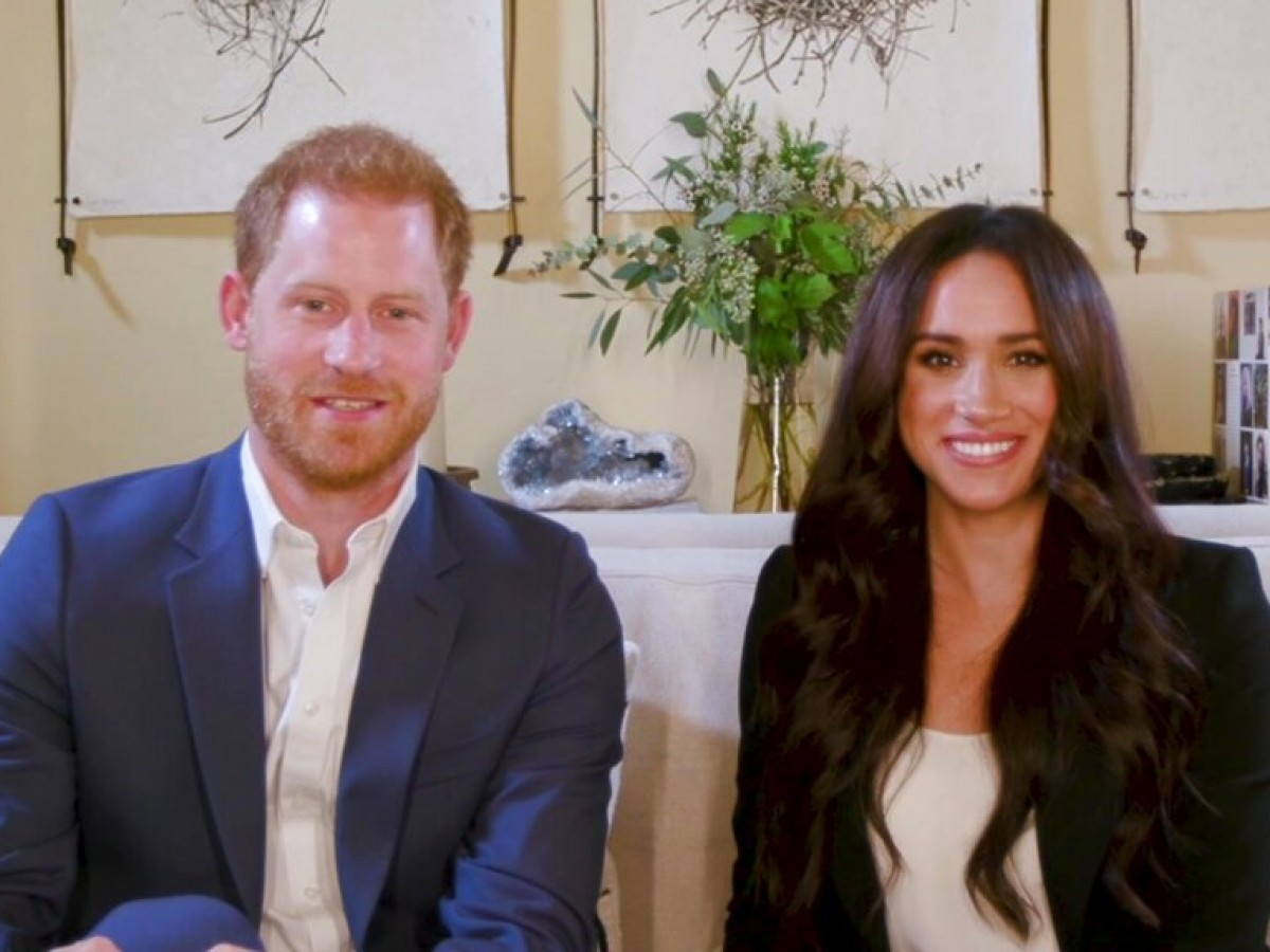 "Harry y Meghan posan para la revista ""Time"""