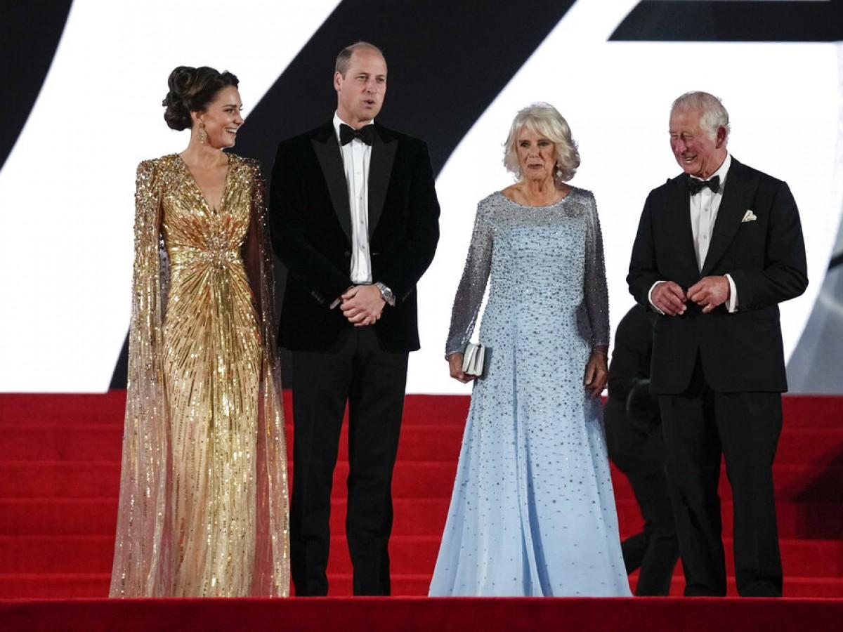 La realeza se apodera del estreno de la nueva película de James Bond