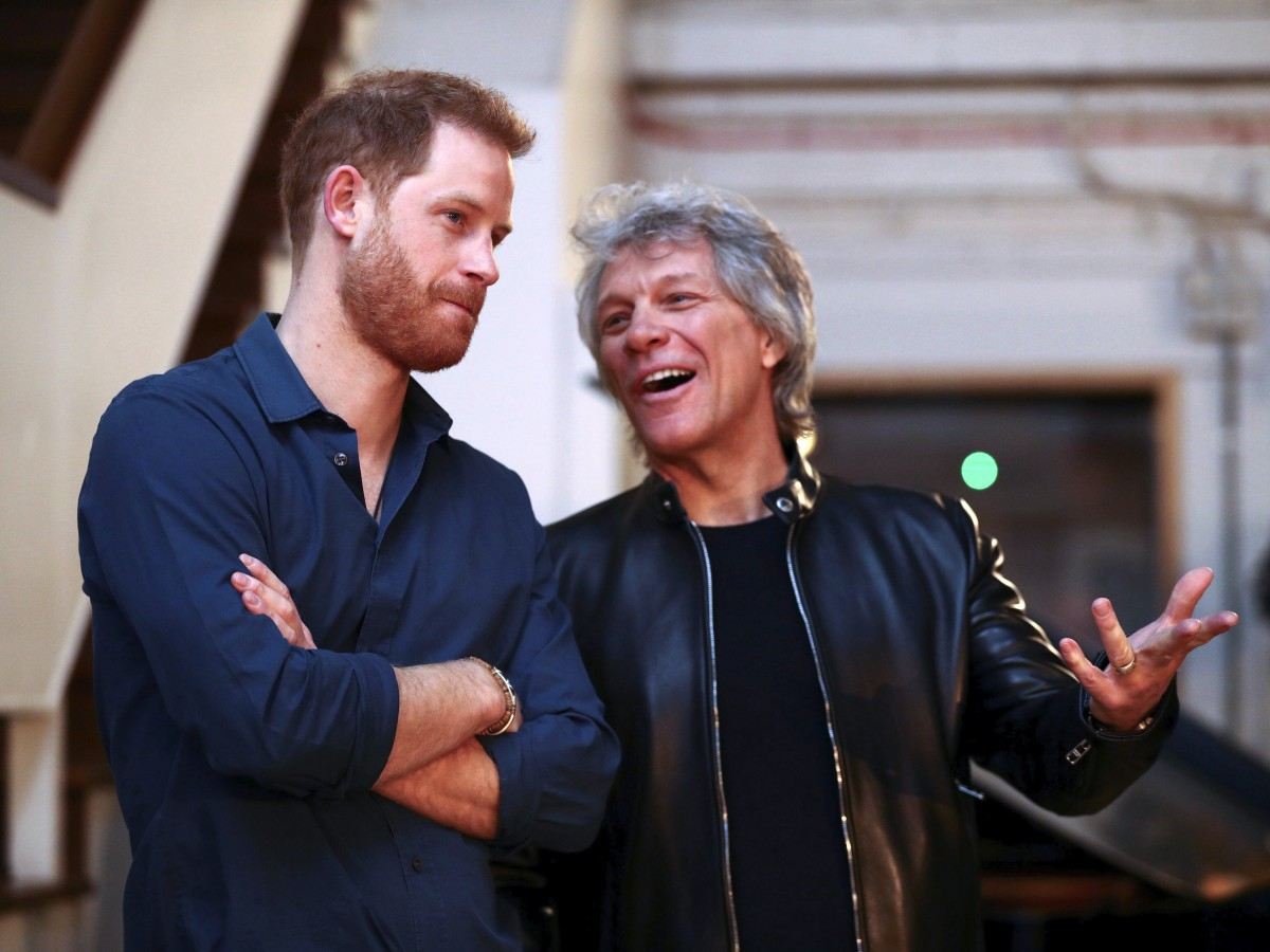 El príncipe Harry y Jon Bon Jovi graban una canción a beneficio de la Invictus Games Foundation