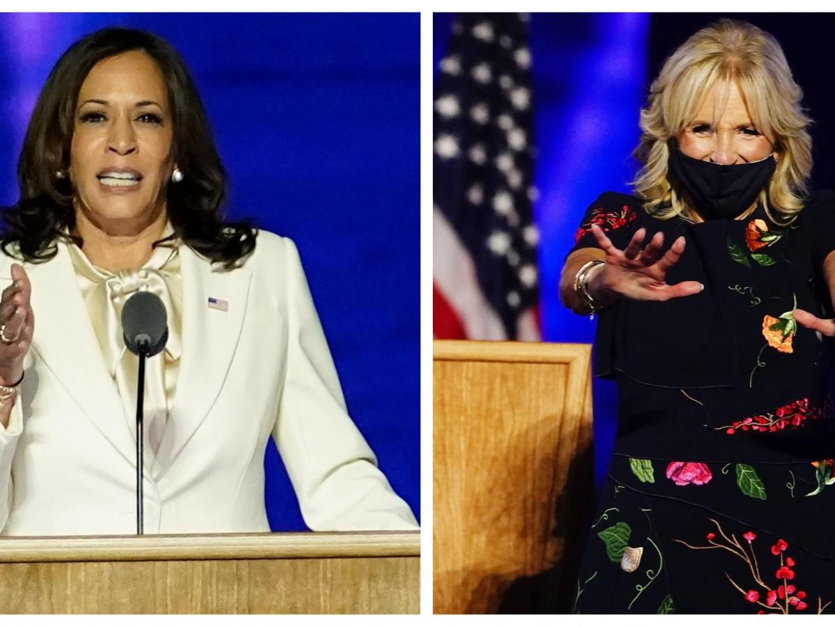 Los mensajes detrás de la ropa que usaron Kamala Harris y Jill Biden