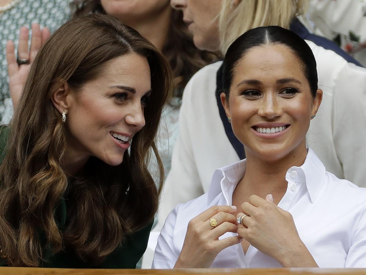 Meghan y Kate comparten en Wimbledon