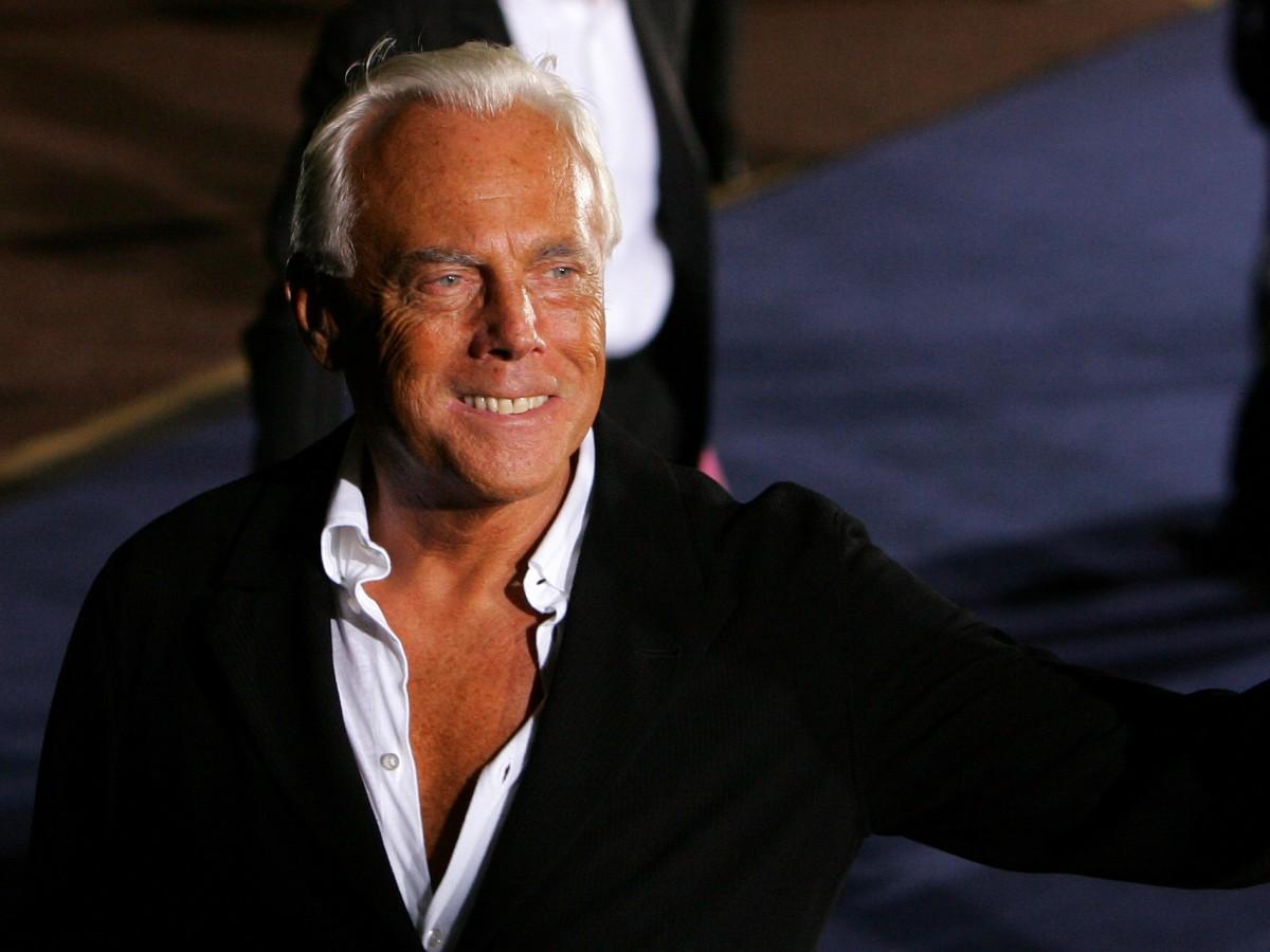 Giorgio Armani es considerado el diseñador más rico del mundo de la moda