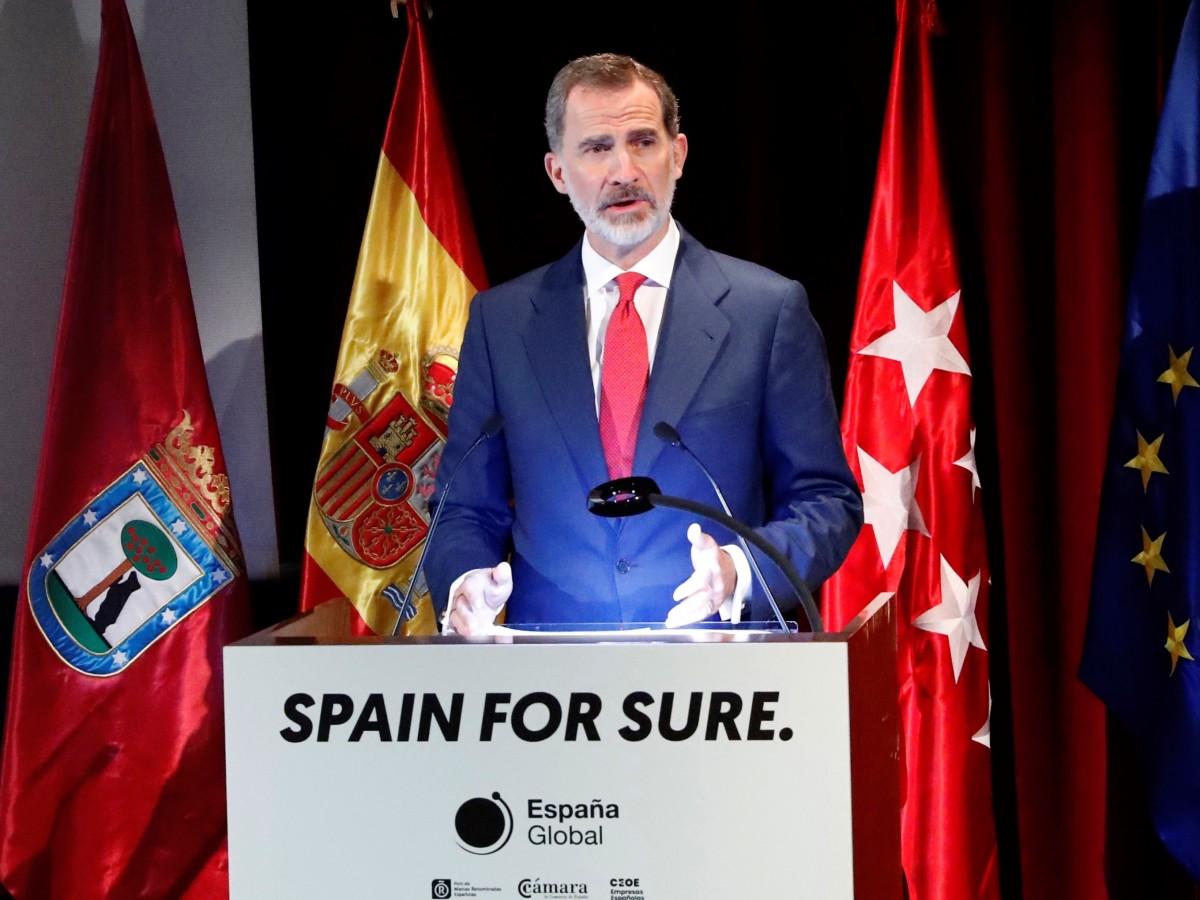 """Felipe VI envía un mensaje al mundo de """"fe y confianza en España"""""""