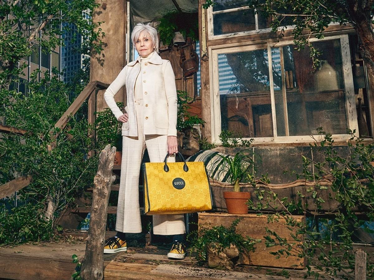 Jane Fonda es la embajadora de la nueva propuesta de moda sostenible de Gucci