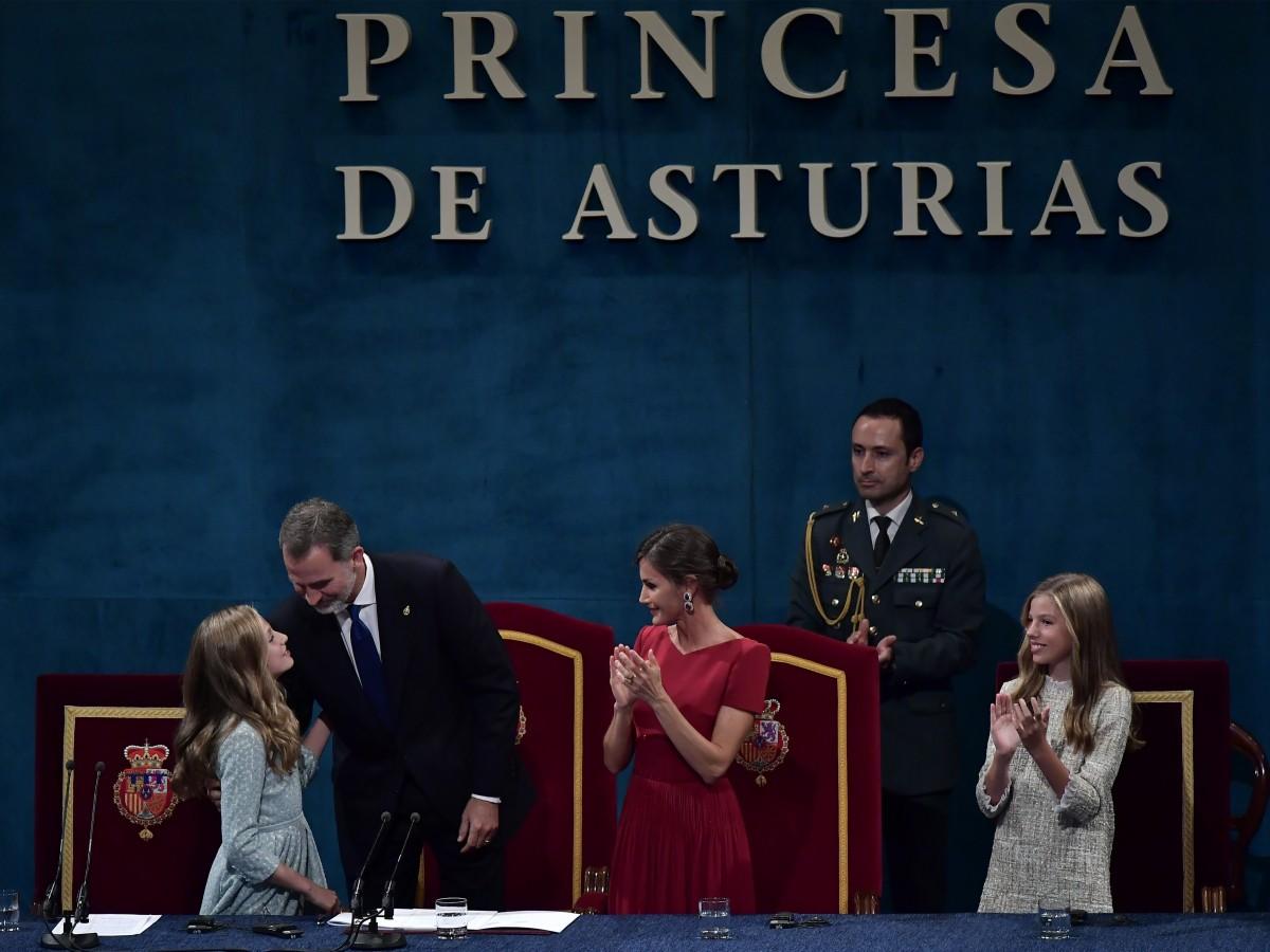 La princesa Leonor emociona con su primer discurso oficial