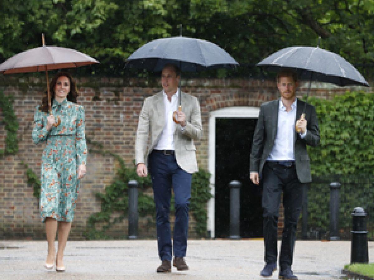 Los príncipes William y Harry rinden homenaje a la princesa Diana