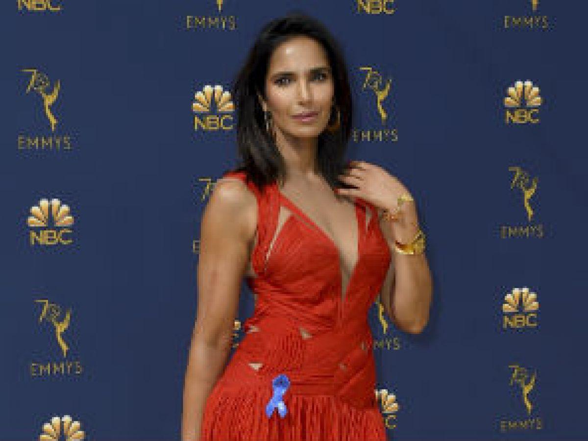 Padma Lakshmi repite un vestido para la alfombra roja de los Emmy