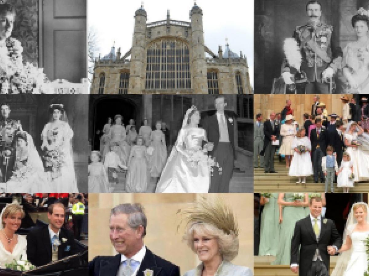 Las bodas celebradas en el castillo de Windsor