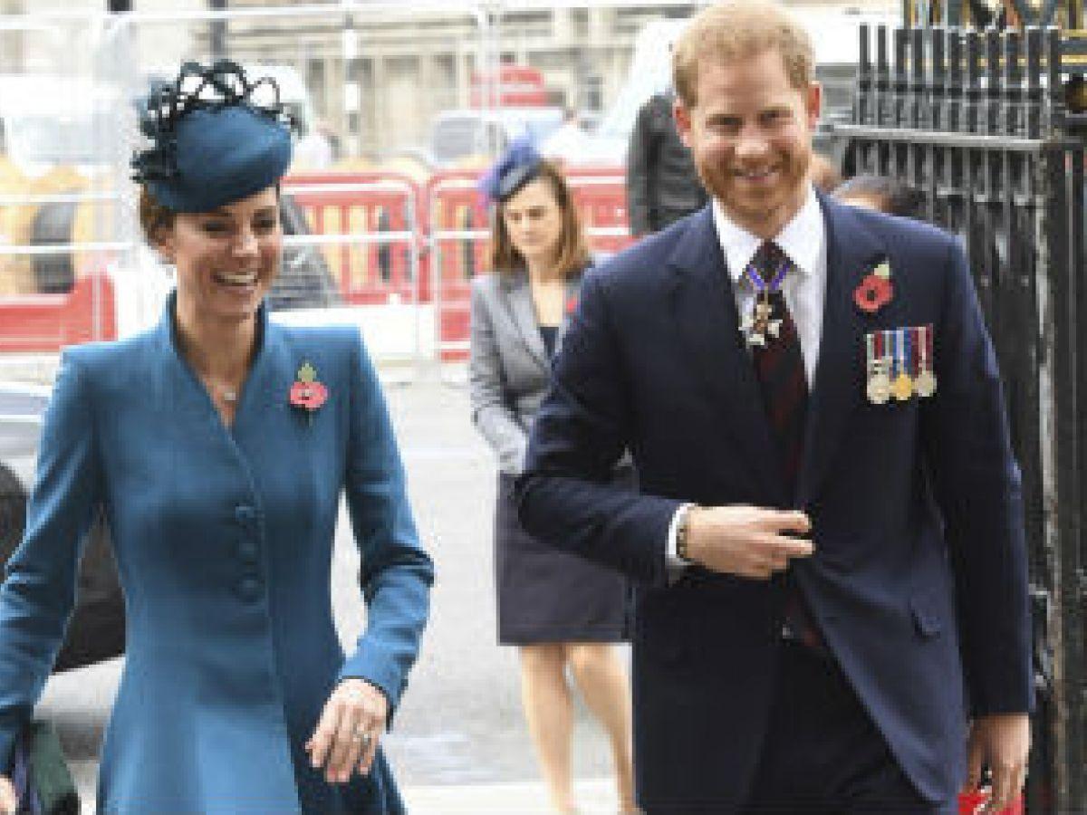 Kate y Harry asisten juntos a un servicio en la Abadía de Westminster
