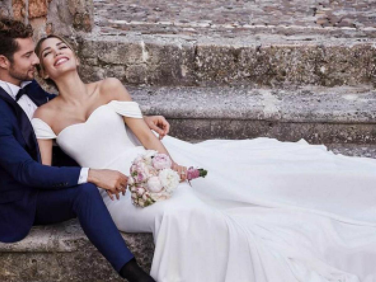 """El romántico y sencillo """"look"""" de David Bisbal y Rosanna Zanetti para su boda"""