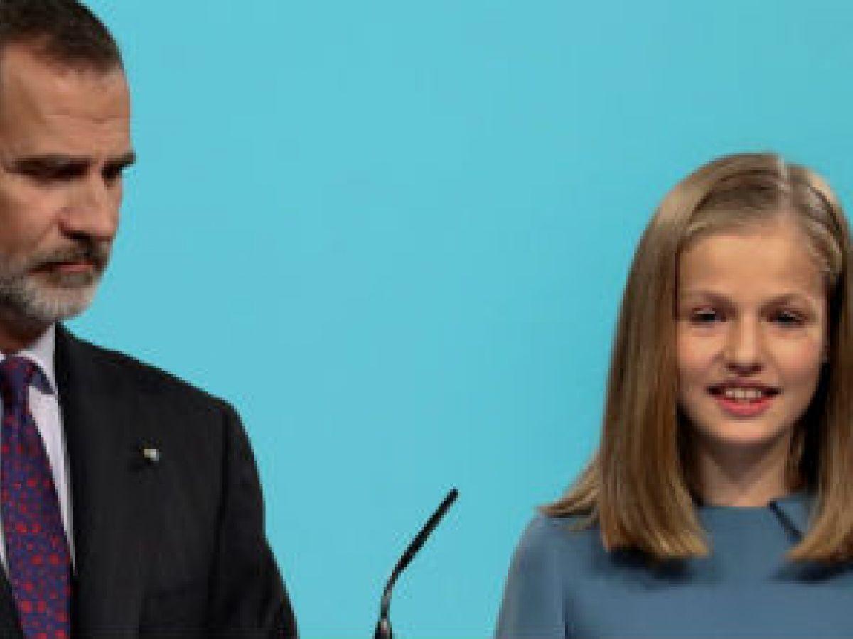 La princesa Leonor ofrece su primer discurso público
