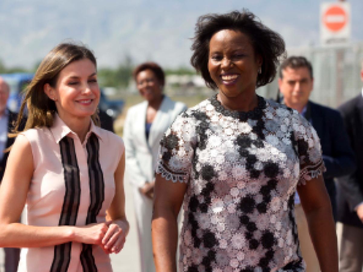 La reina Letizia llega a Haití