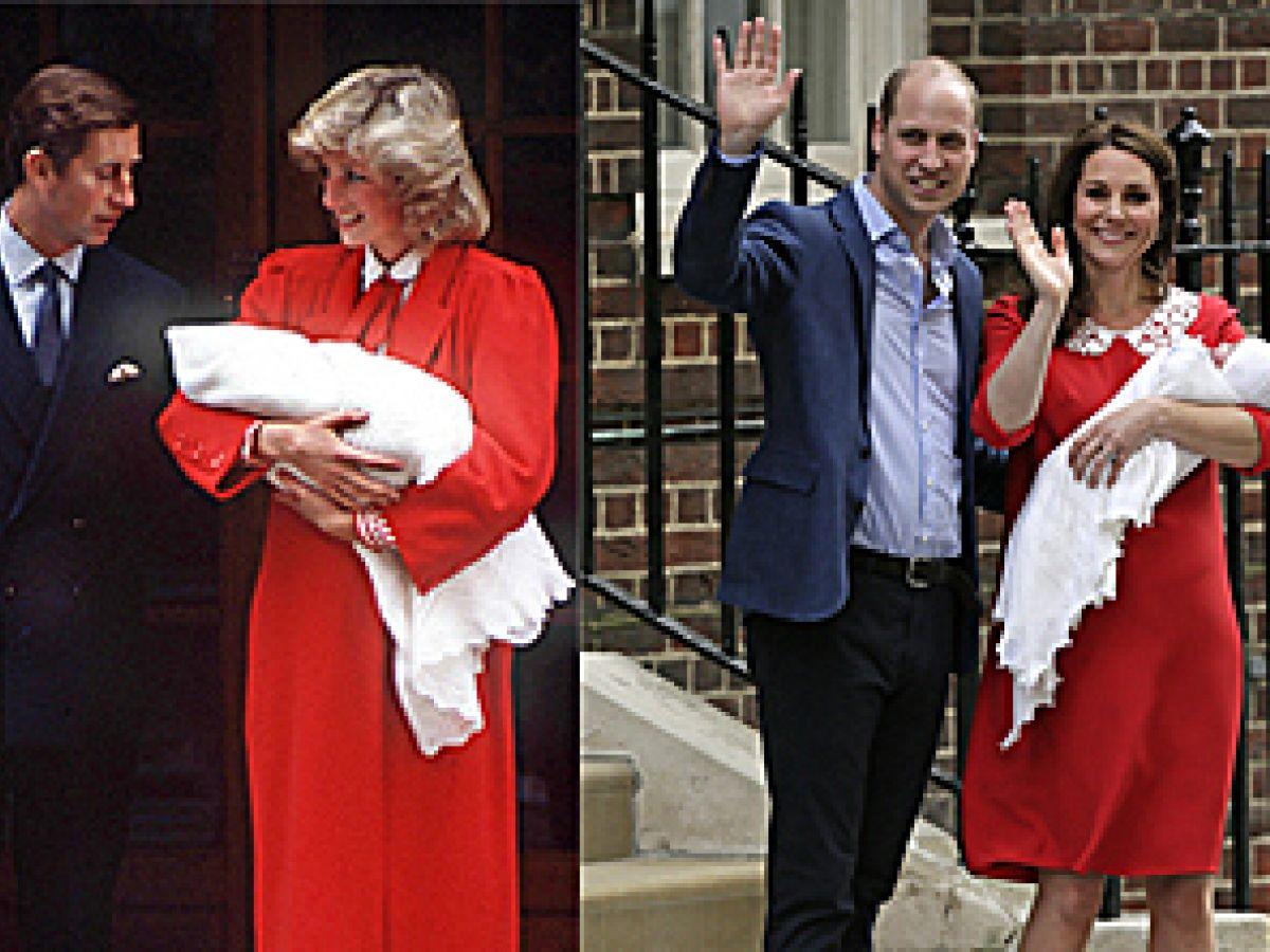La duquesa viste casi igual que Diana cuando dio a luz al príncipe Harry